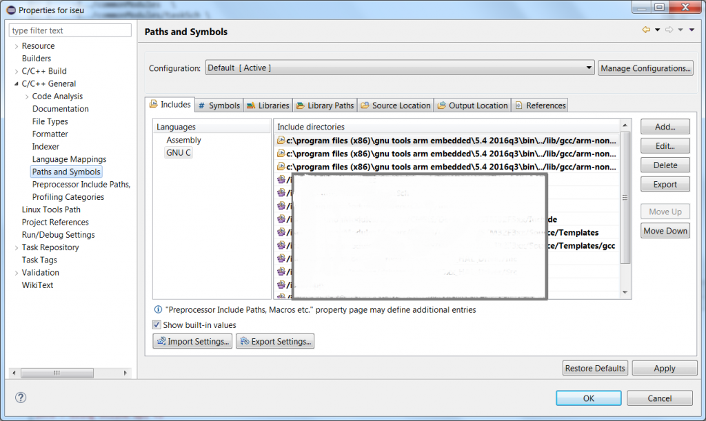 Setup Eclipse with openOCD and arm-none-eabi-gdb debugers